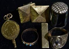 Mixed Lot of 10K and 14K Jewelry
