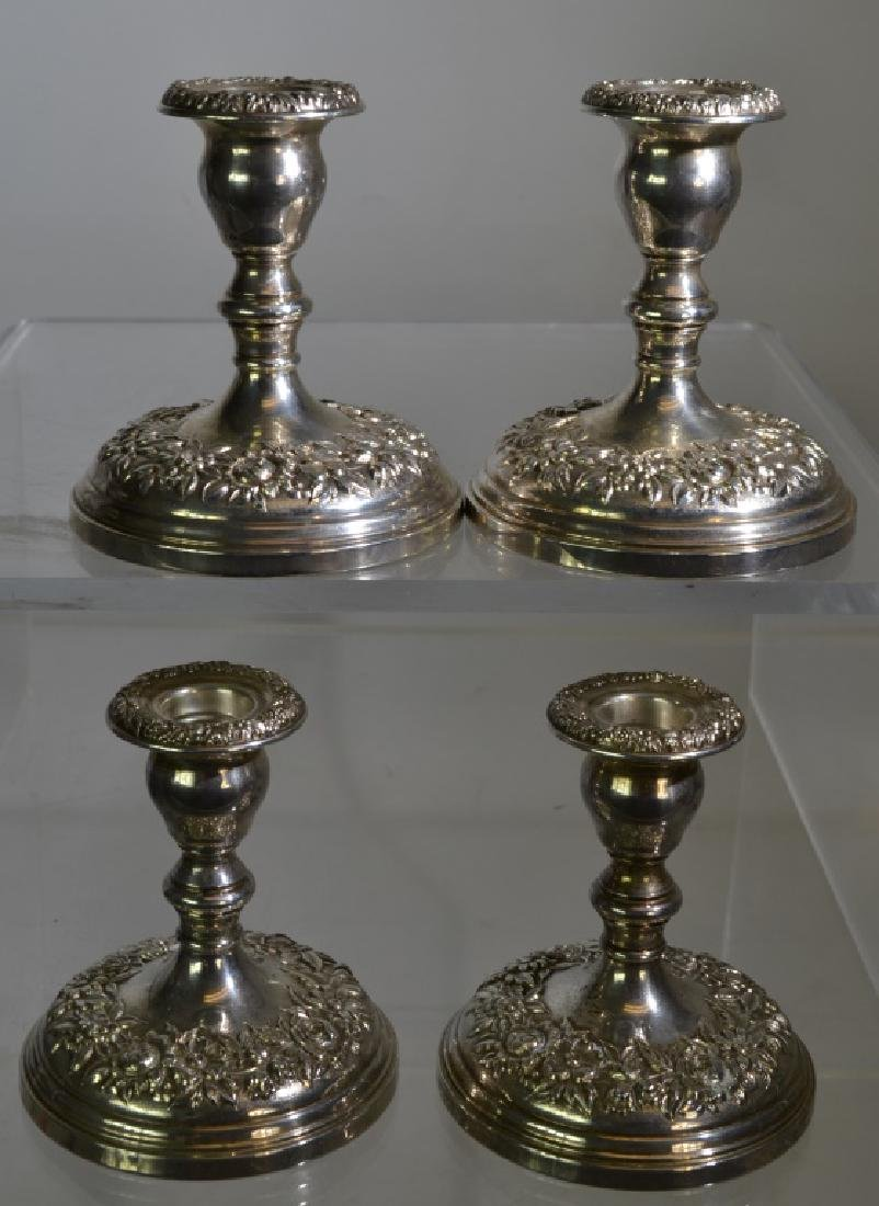 4 S. Kirk & Son Sterling Weighted Candlesticks