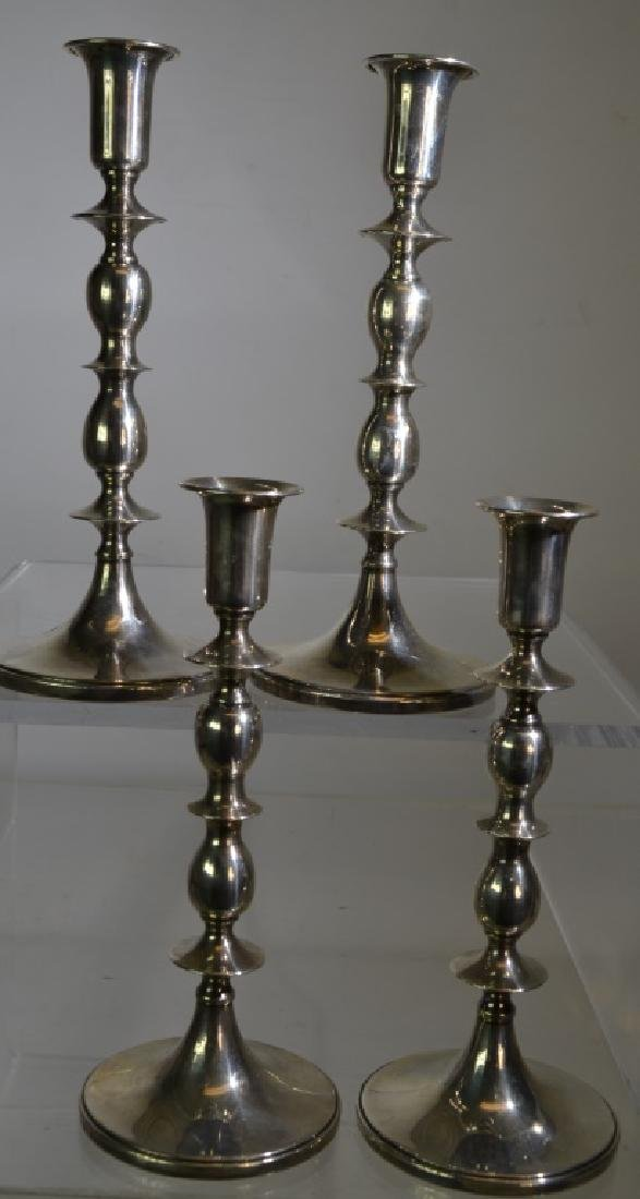Set of 4 B. & M. Sterling Weighted Candlesticks