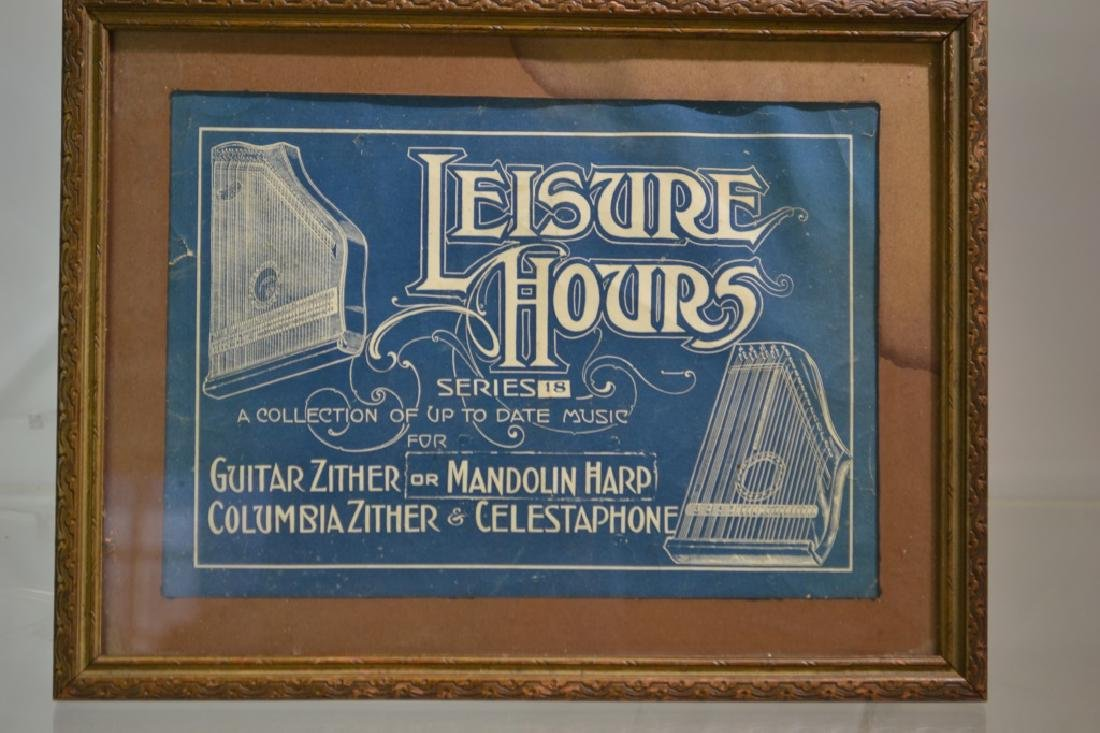 Victorian Musical Advertising Print
