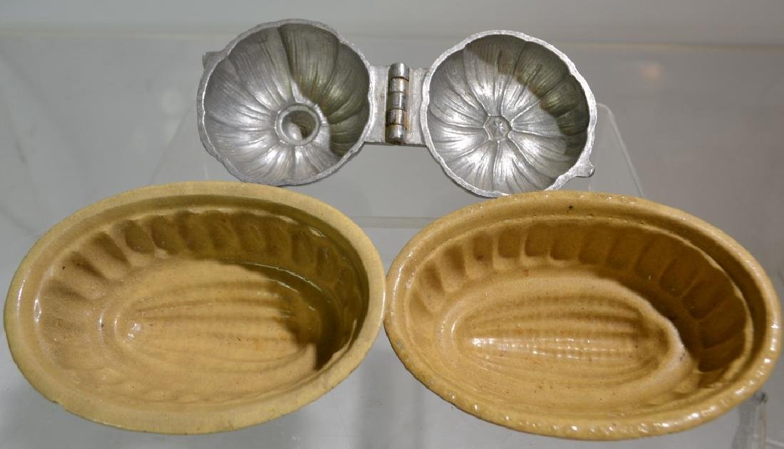 Yellow Ware Butter Molds and More