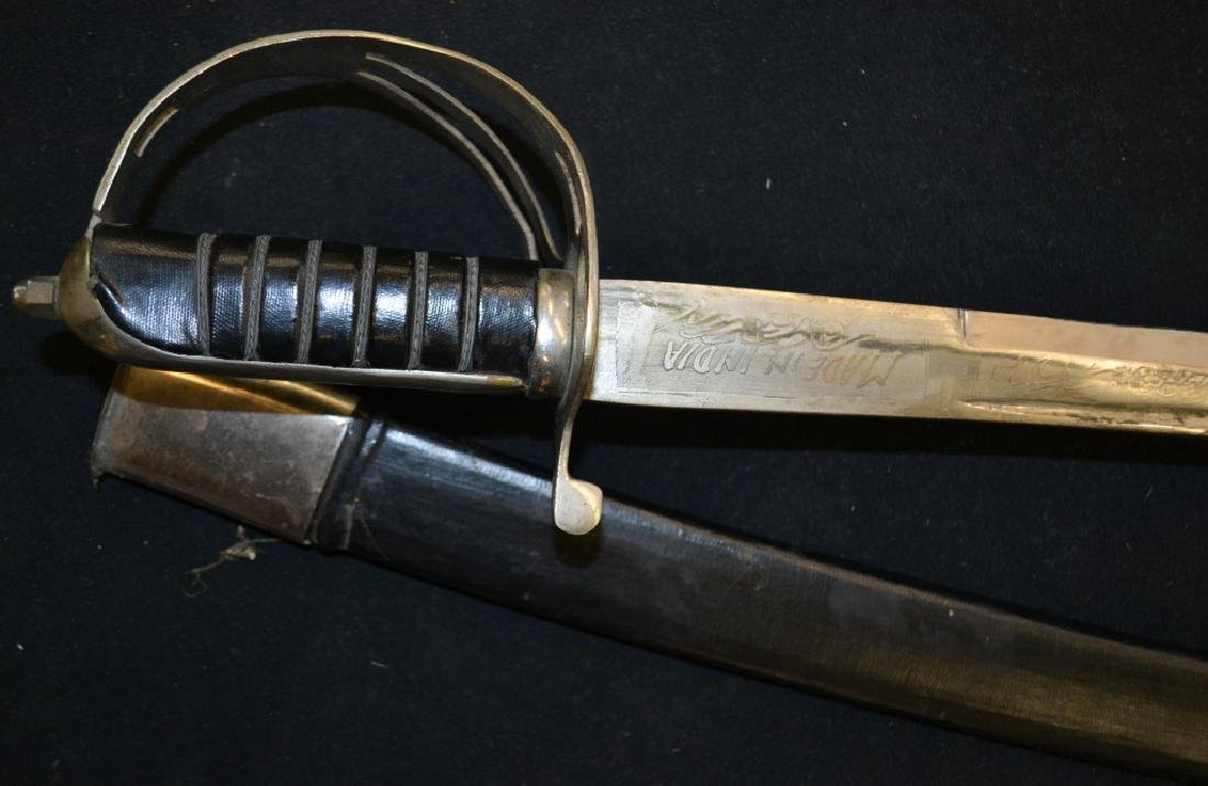 Indian Practice Sword and Scabbard