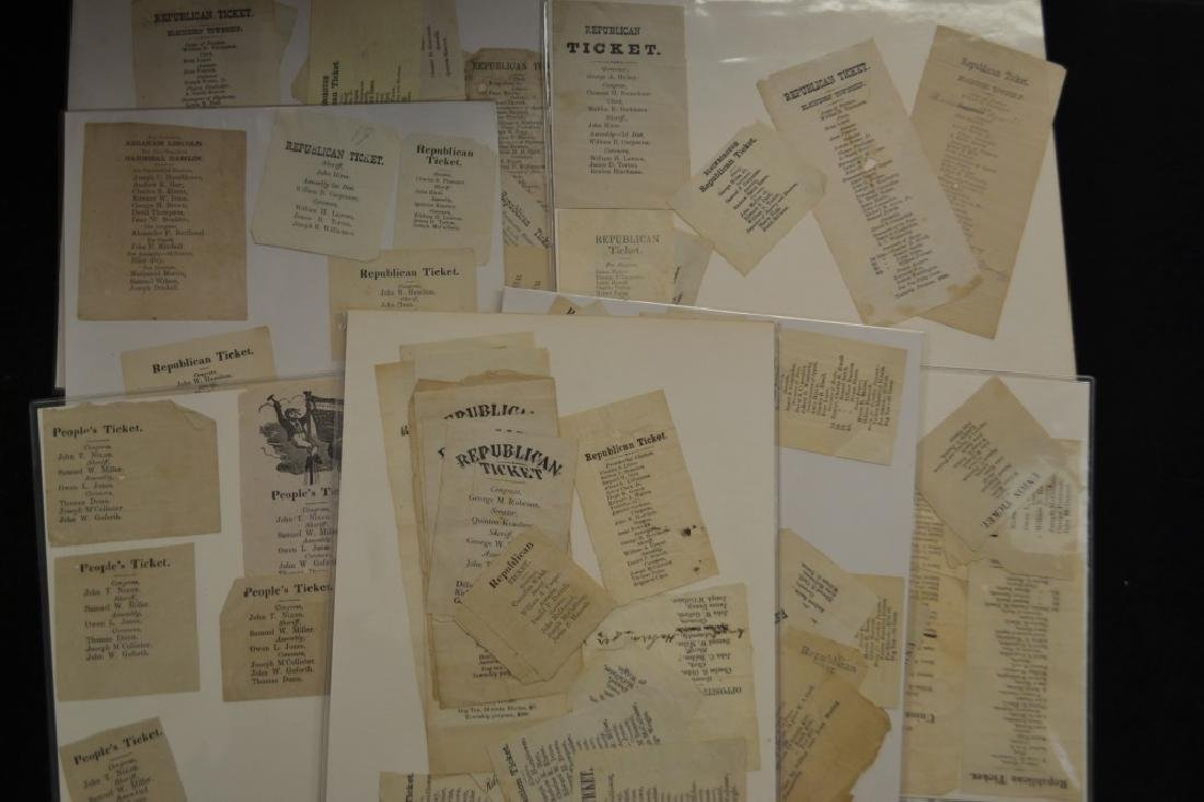 19th C. Political Tickets