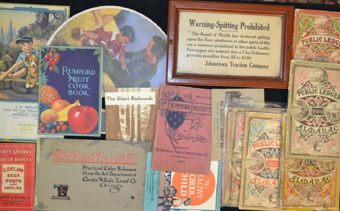 Almanacs and Advertising/Ephemera Grouping