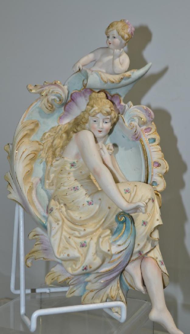 Figural Porcelain Wall Plaque