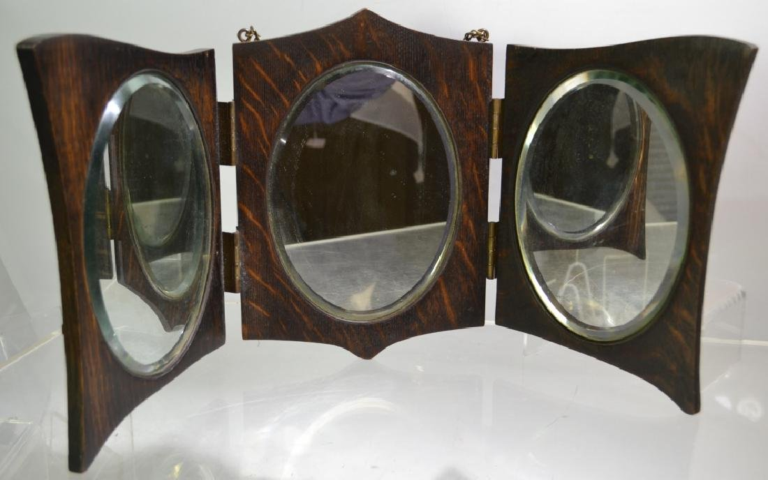 Arts and Crafts Triptych Mirror