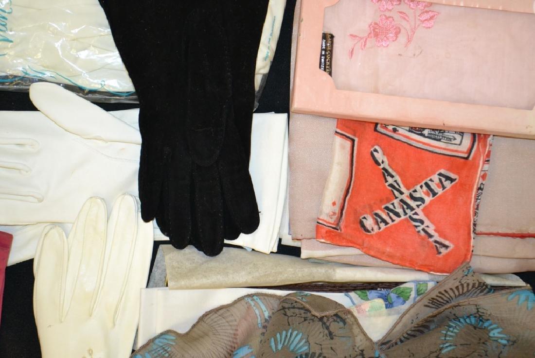 Vintage Ladies Gloves and Scarves - 3