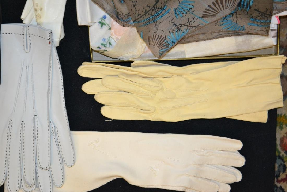 Vintage Ladies Gloves and Scarves - 4