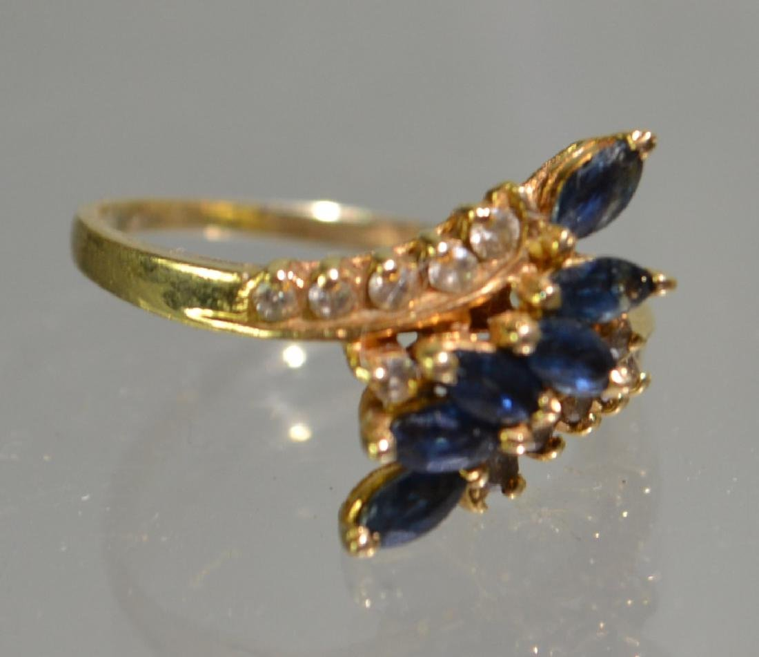 Ladies 14K Gold and Sapphire Ring