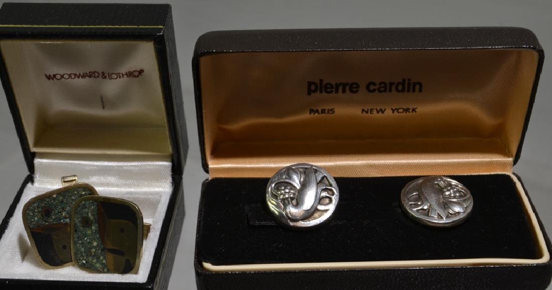 Sterling Cufflinks and Earrings