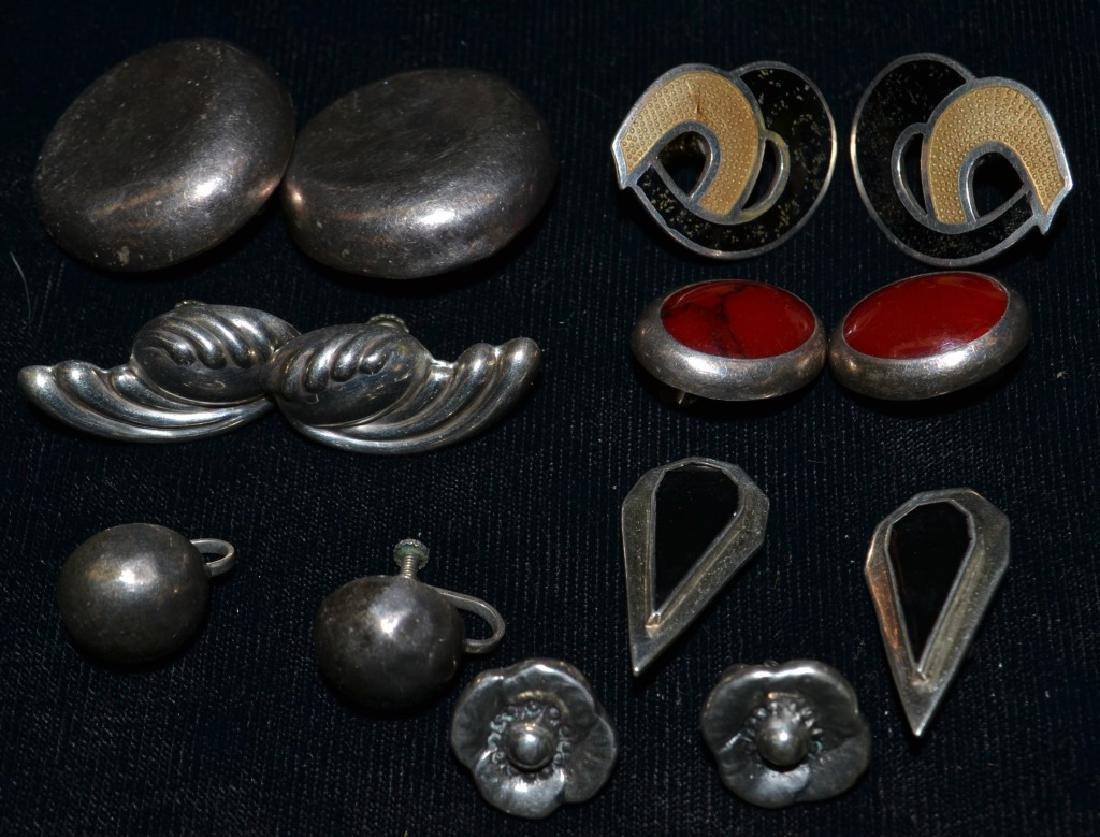 7 Pair of Sterling Clip-on Earrings