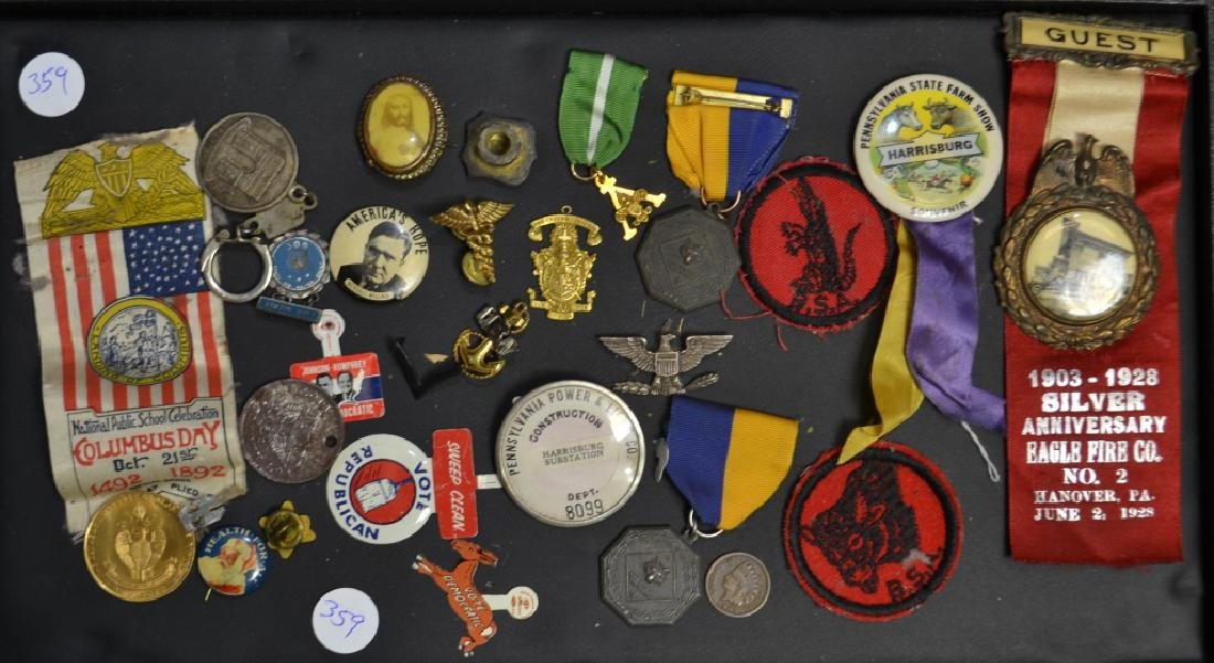 Vintage Medals and Pin Backs