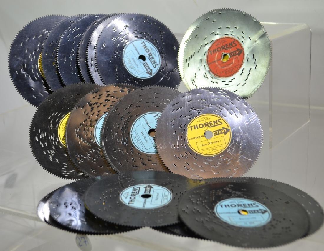 Grouping of Thorens Metal Music Box Disks