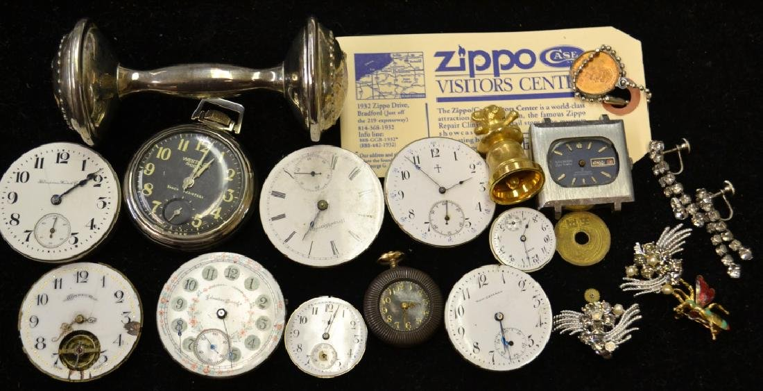 Grouping of Pocket Watch Movements and More
