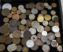 Grouping of Foreign and American Coins