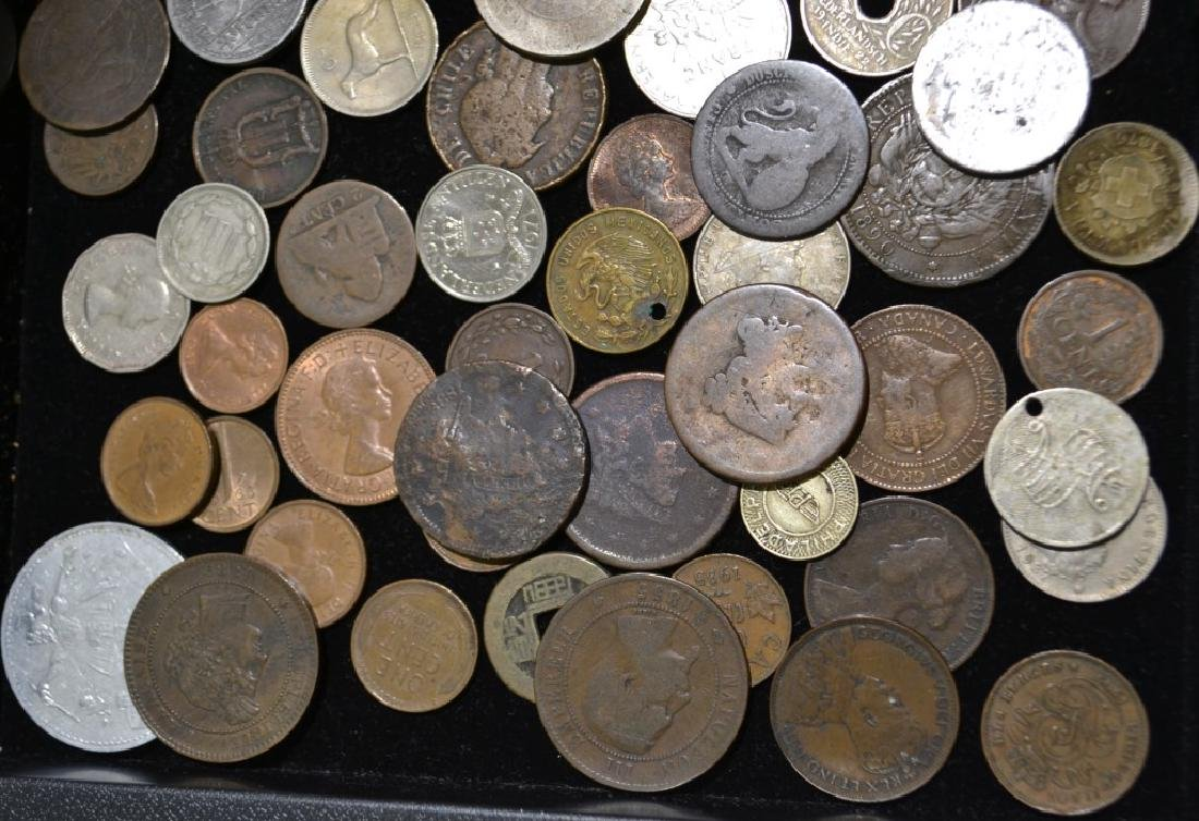 Grouping of Foreign and American Coins - 2
