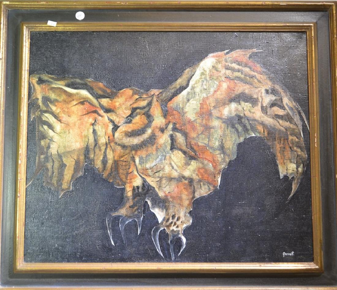 Oil on Canvas of an Owl