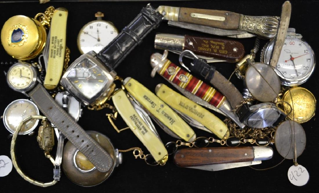 Pocket Watch and Pocket Knife Grouping