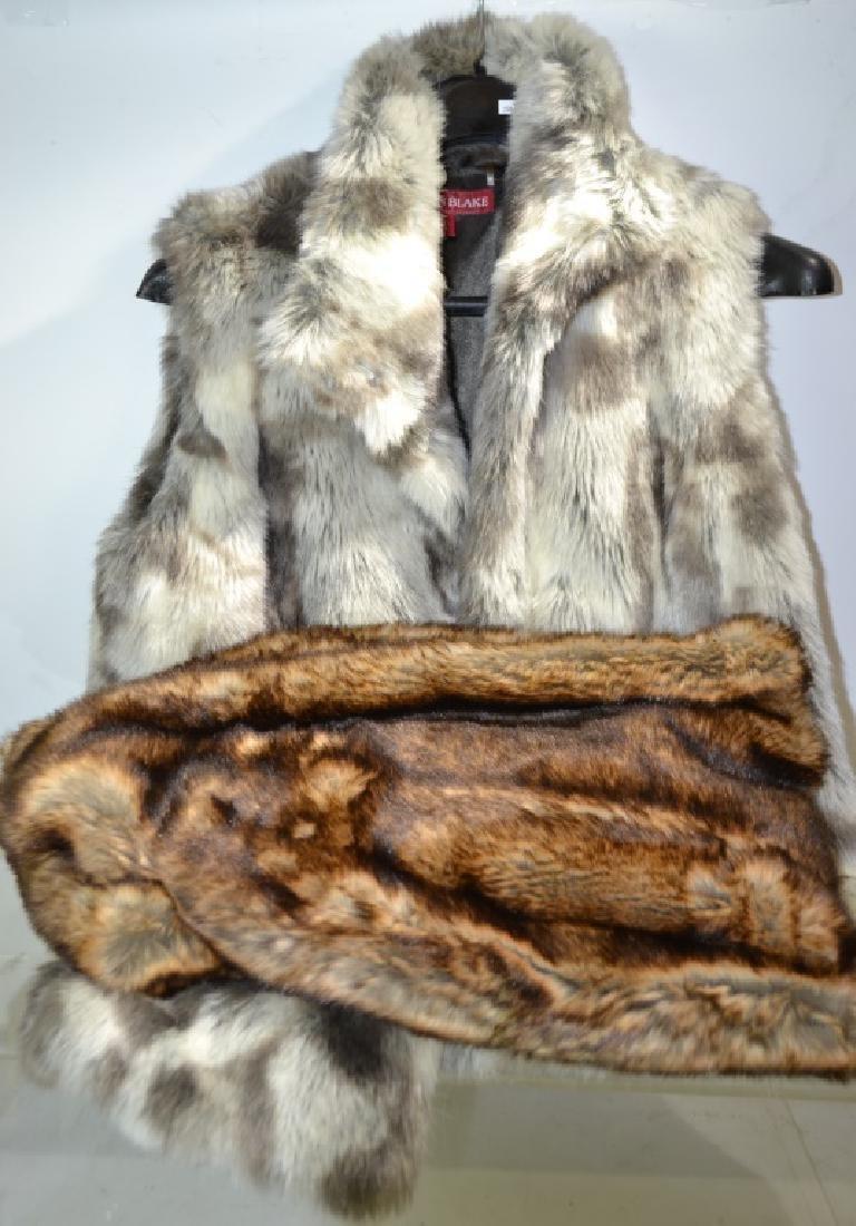 Pair of Faux Fur Items