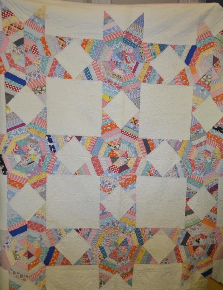 Vintage Feed Sack Star Quilt