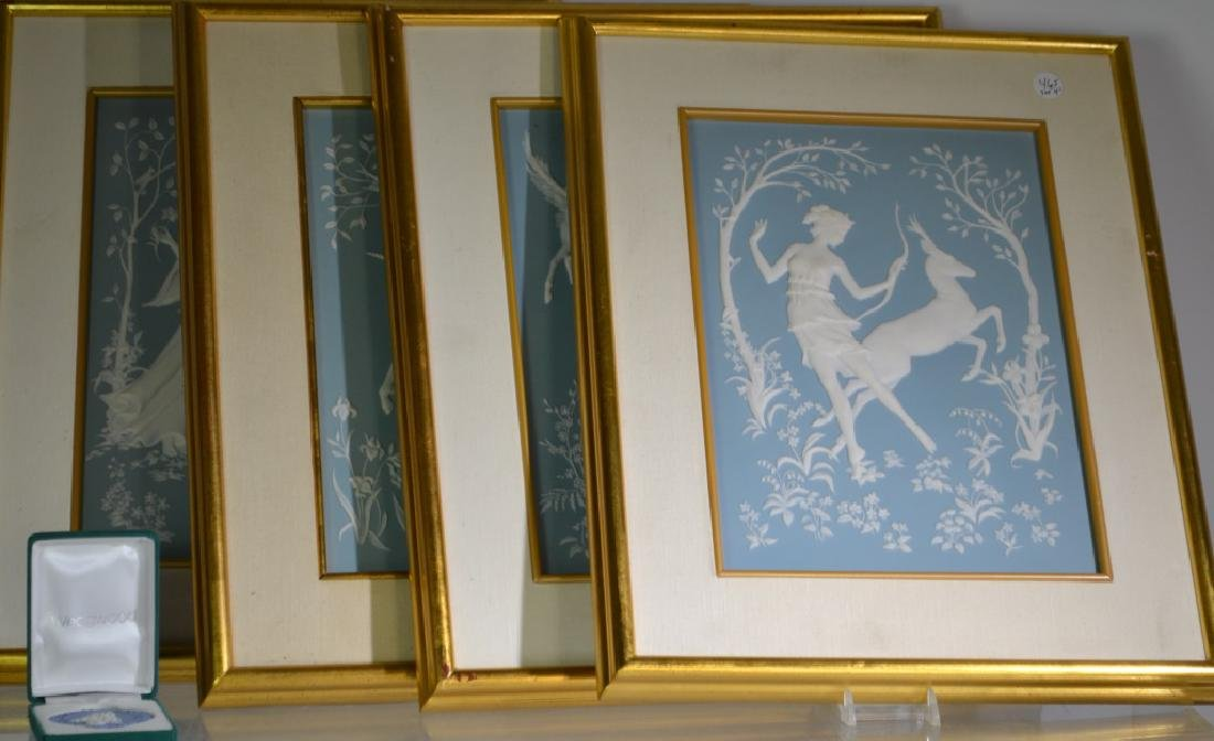 Set of 4 Franklin Mint Ceramic Panels