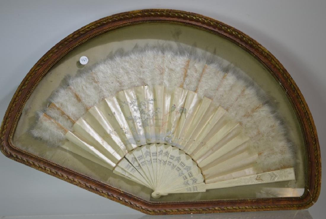 Victorian Fan in Frame - 2