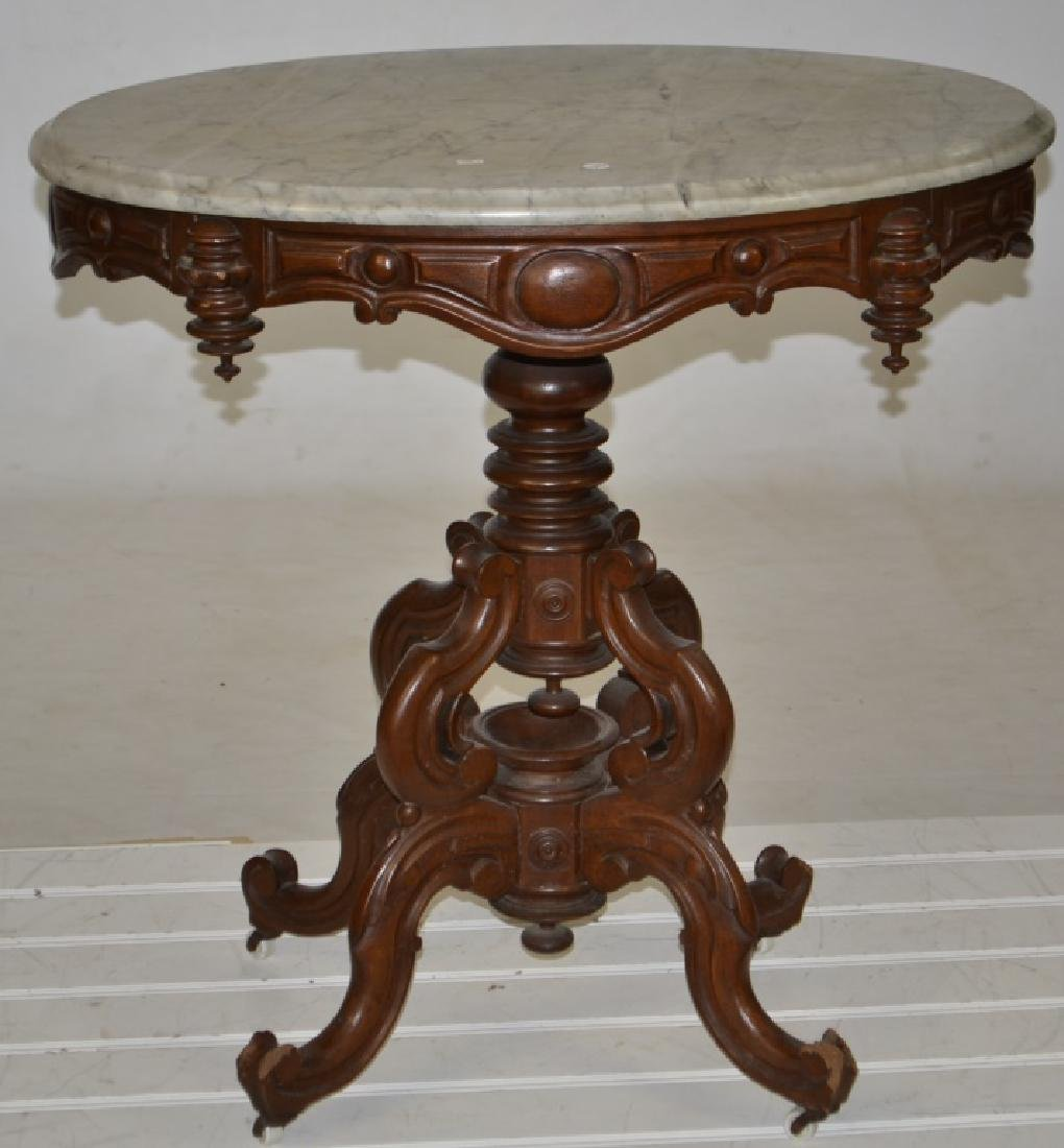 19thC Victorian Marble Top Table