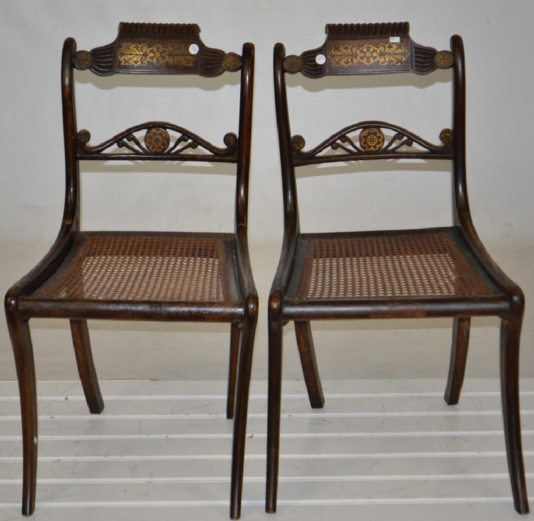 Pair of 19th Century Inlaid Chairs