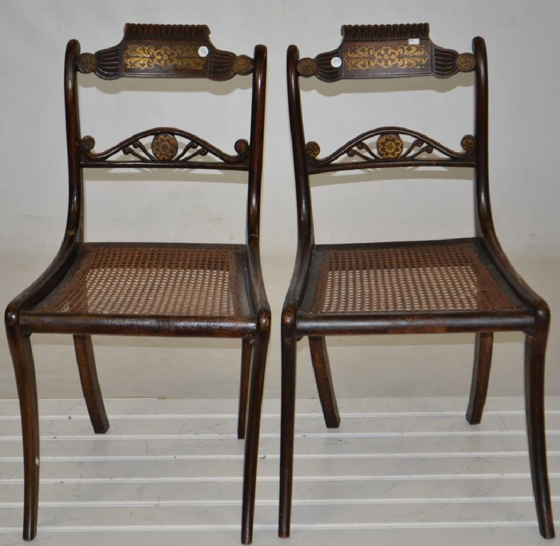 Pair of 19th Century Inlaid Chairs