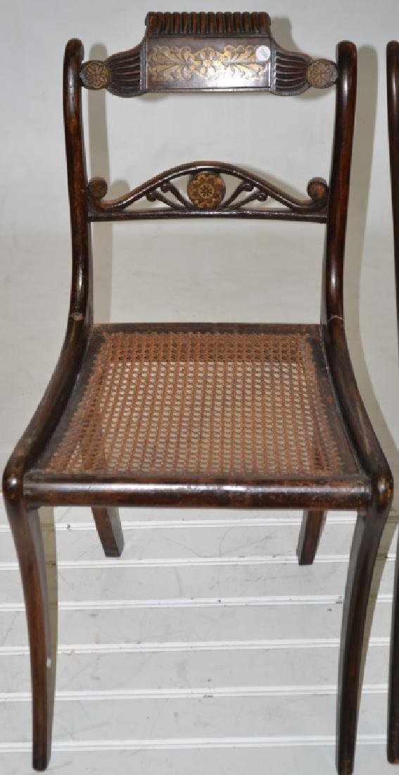 Pair of 19th Century Inlaid Chairs - 3