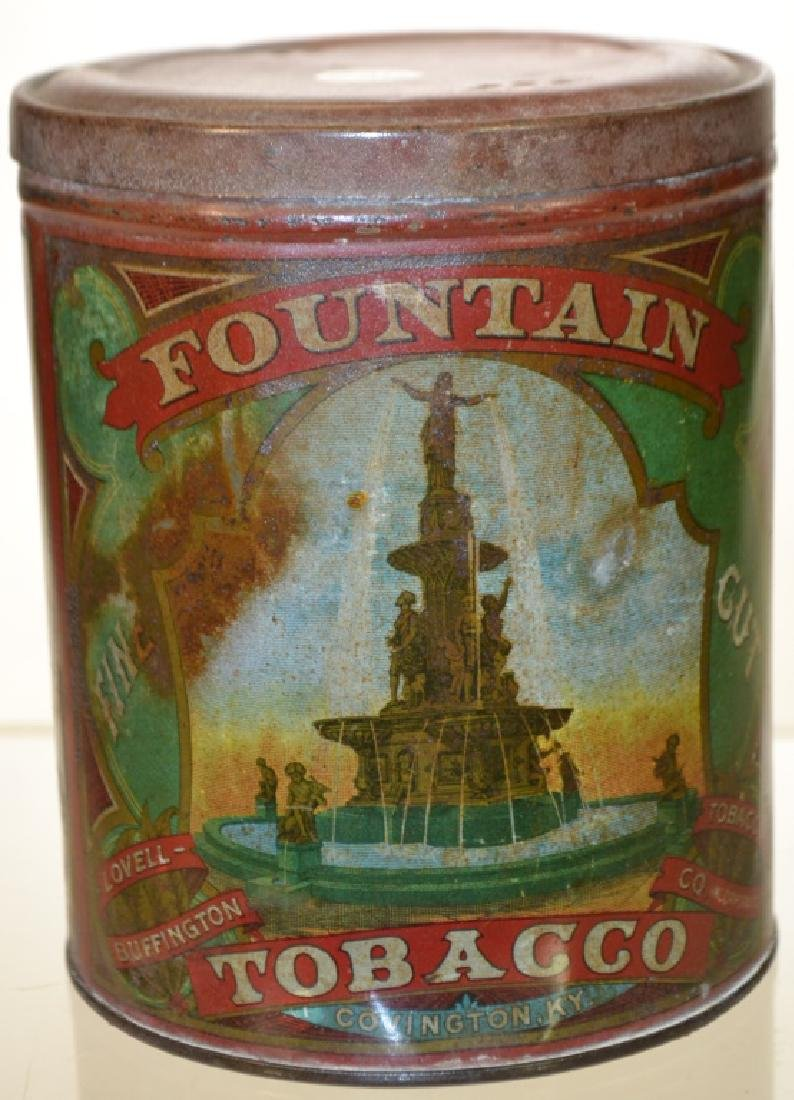 19th Century Fountain Tobacco Tin