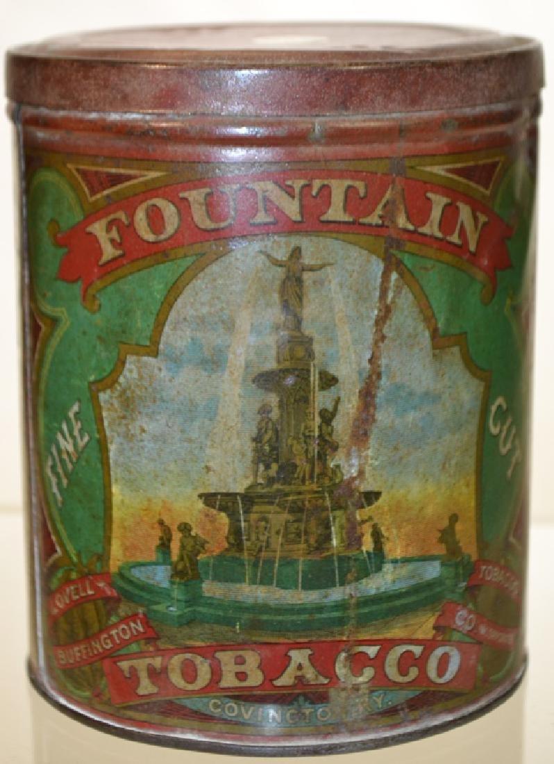 19th Century Fountain Tobacco Tin - 3