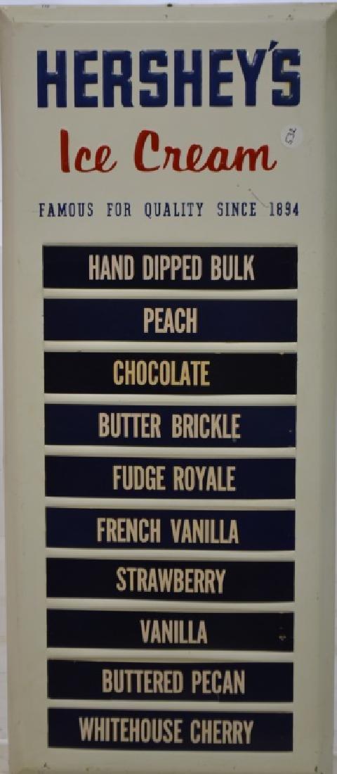 Hershey's Ice Cream Store Menu Board