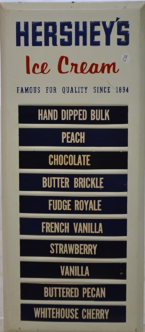 Hershey's Ice Cream Store Menu Board