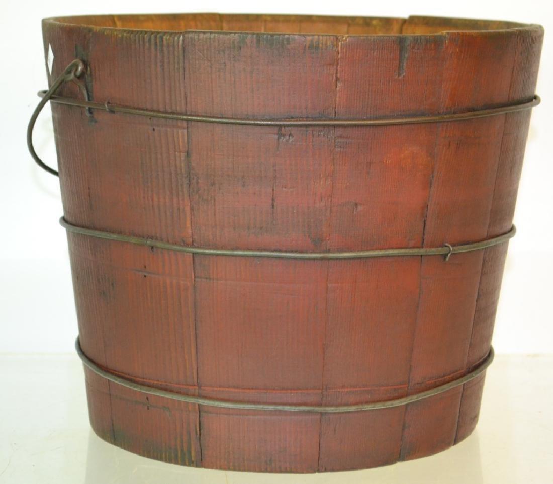 19 Century Wooden Pail - 2