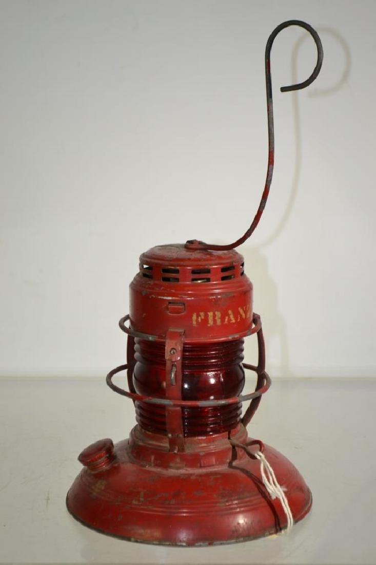 Franz Railroad Lantern with Red Globe