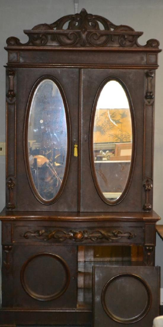 Victorian Two Piece Cupboard
