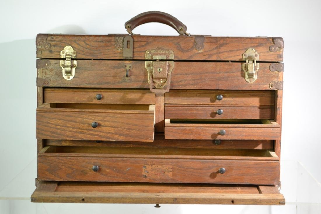 Oak Machinist's Chest - 3