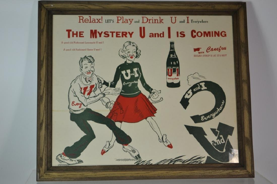 U and I Lemonade Advertising Poster
