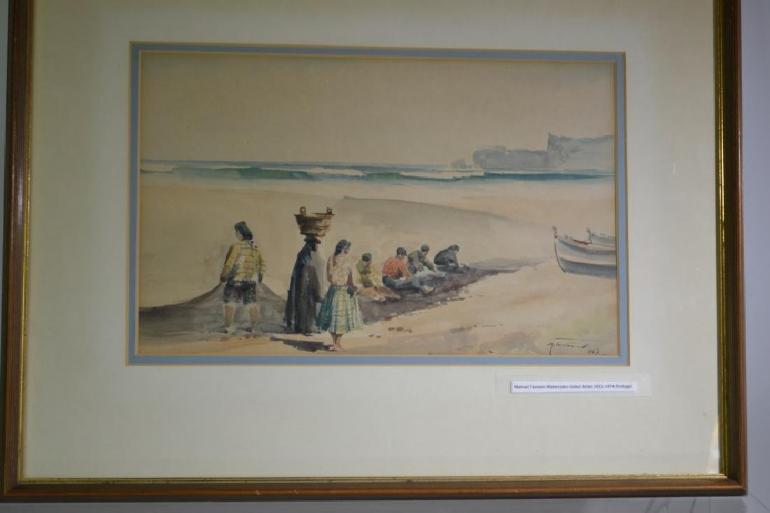 Watercolor Signed Manuel Tavares 1967