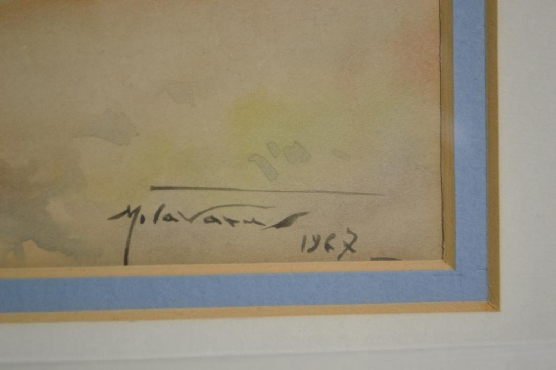 Watercolor Signed Manuel Tavares 1967 - 2