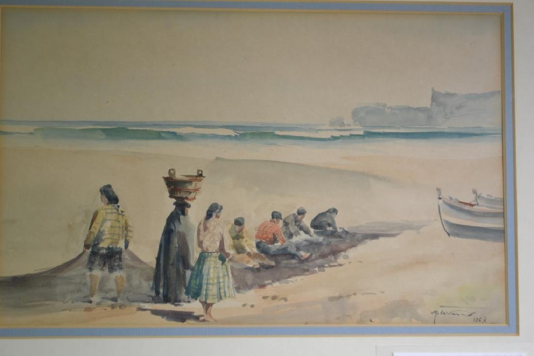 Watercolor Signed Manuel Tavares 1967 - 3