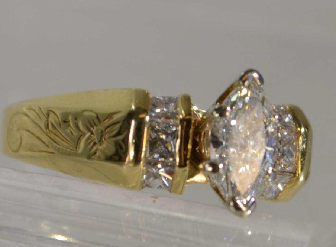 14K Gold & Diamond Engagement Ring, 1.25 ctw