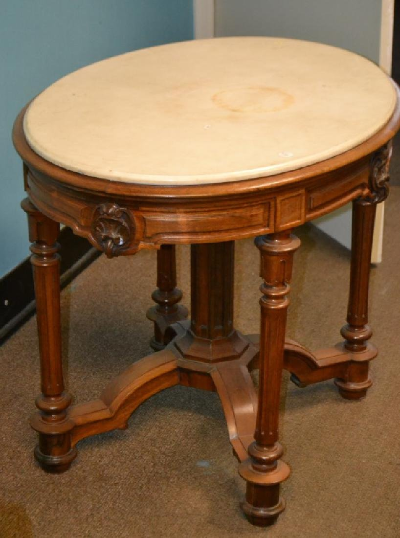 Victorian Marble Top Table - 2