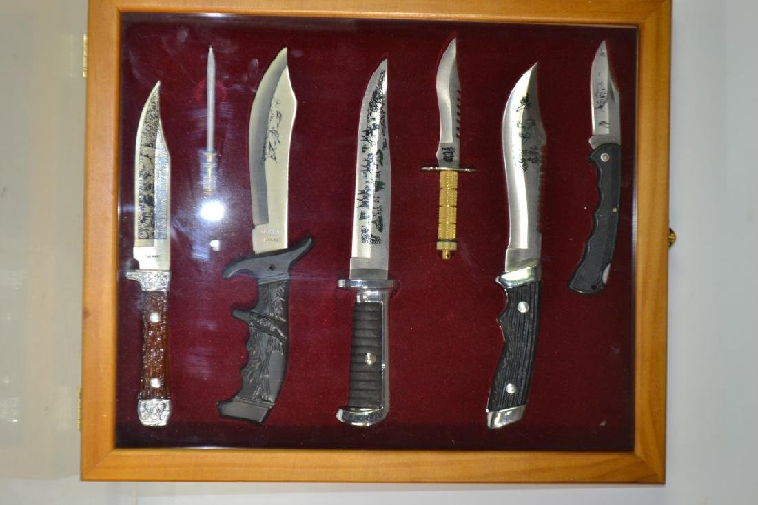 Bowie Knife Display in Case
