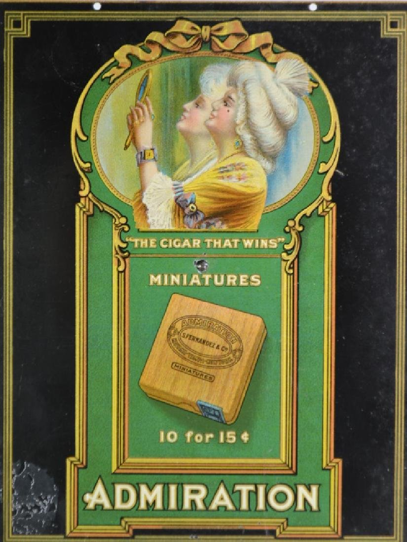 Early 20th Century Admiration Tin Cigar Ad