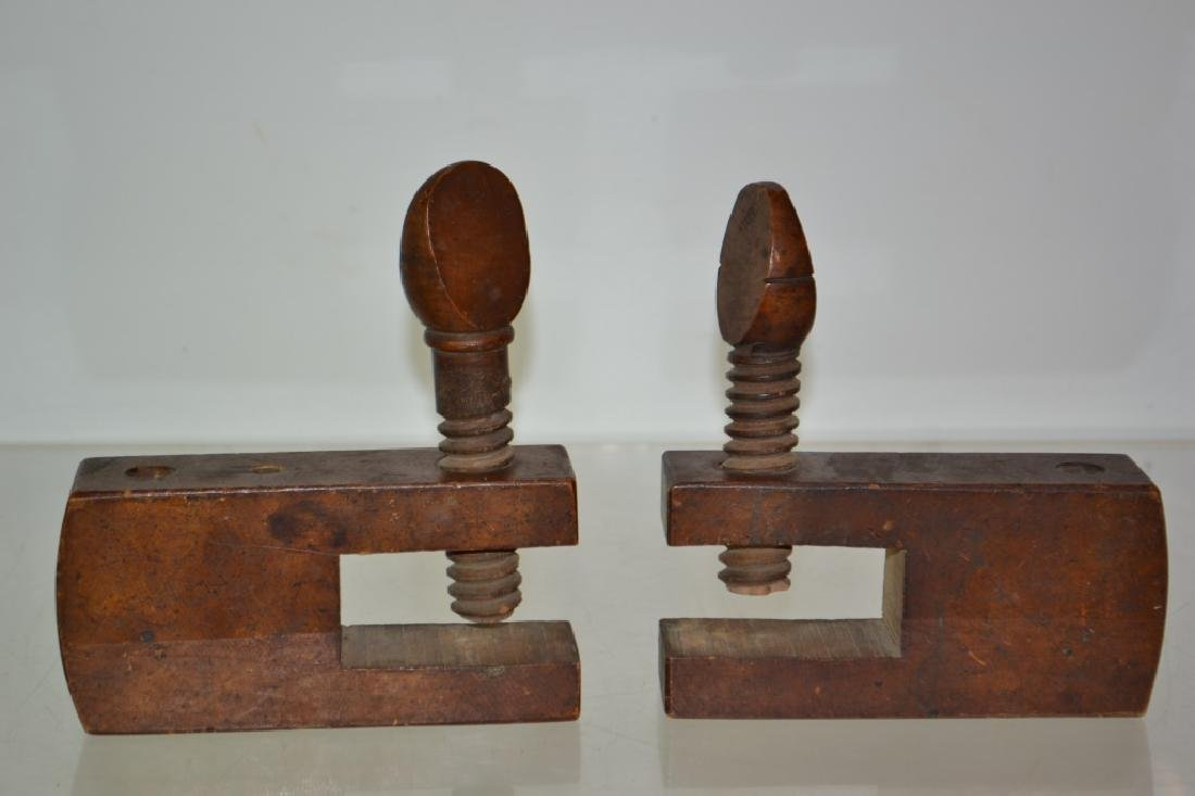 Pair of 19th Century Furniture Clamps