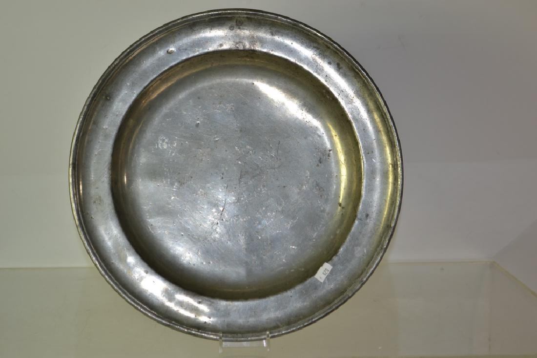 Early 19th Century Pewter Plate