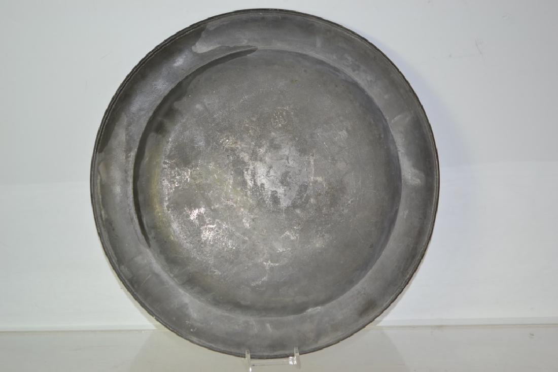 Early 19th Century Pewter Plate - 3