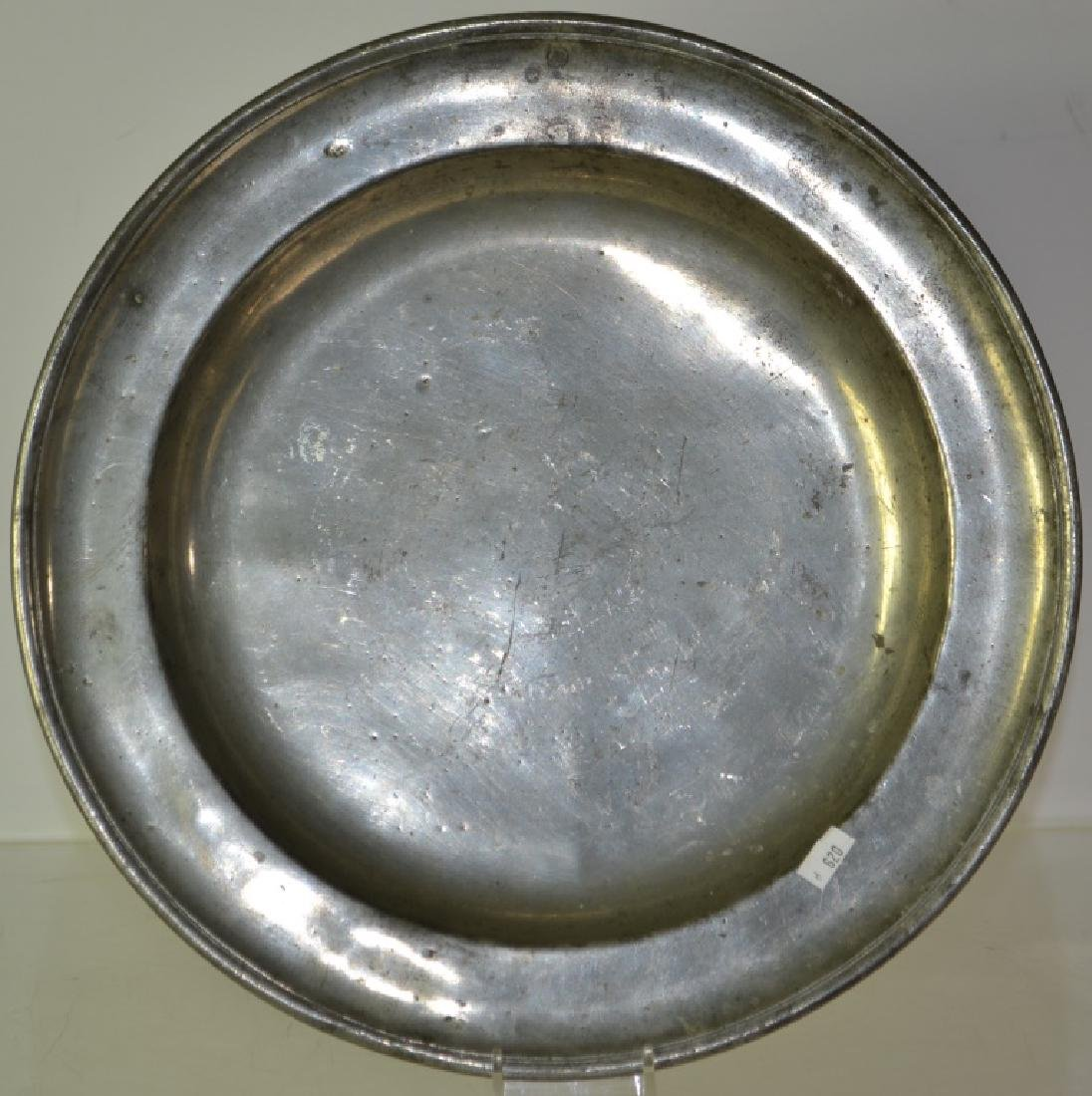 19th Century English Pewter Charger